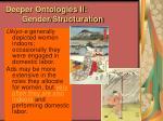 deeper ontologies ii gender structuration