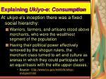 explaining ukiyo e consumption