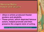 marrying media kabuki and ukiyo e
