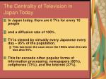 the centrality of television in japan today