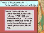 tropes of representation 1 serial and set views of a subject