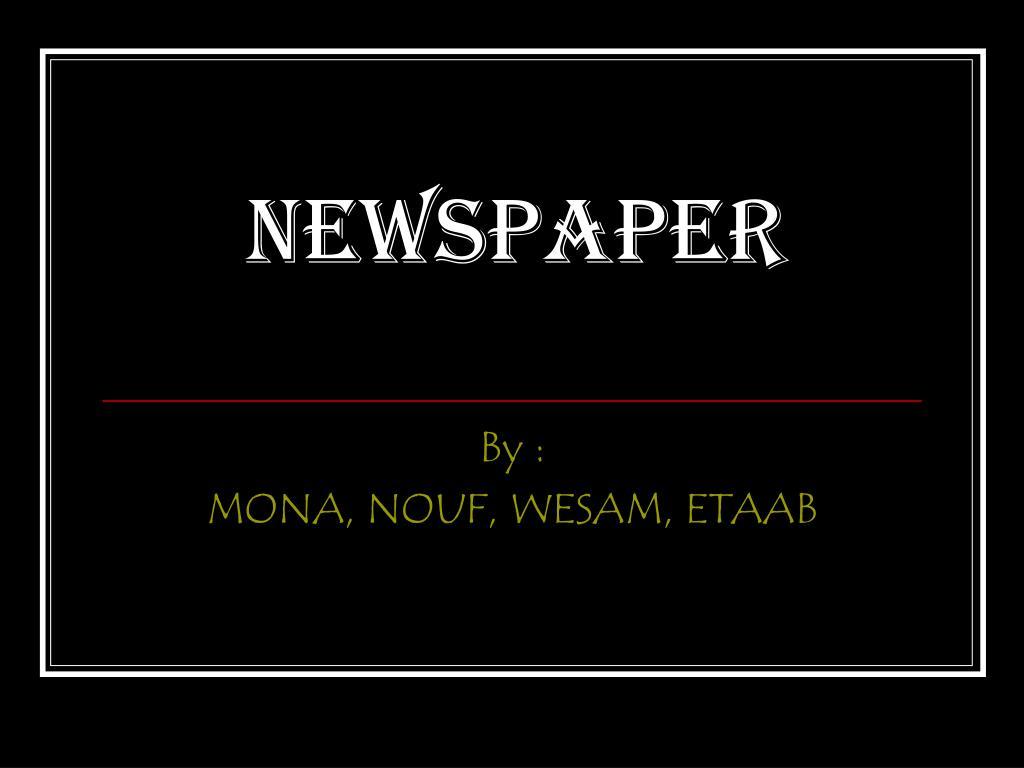newspaper l.
