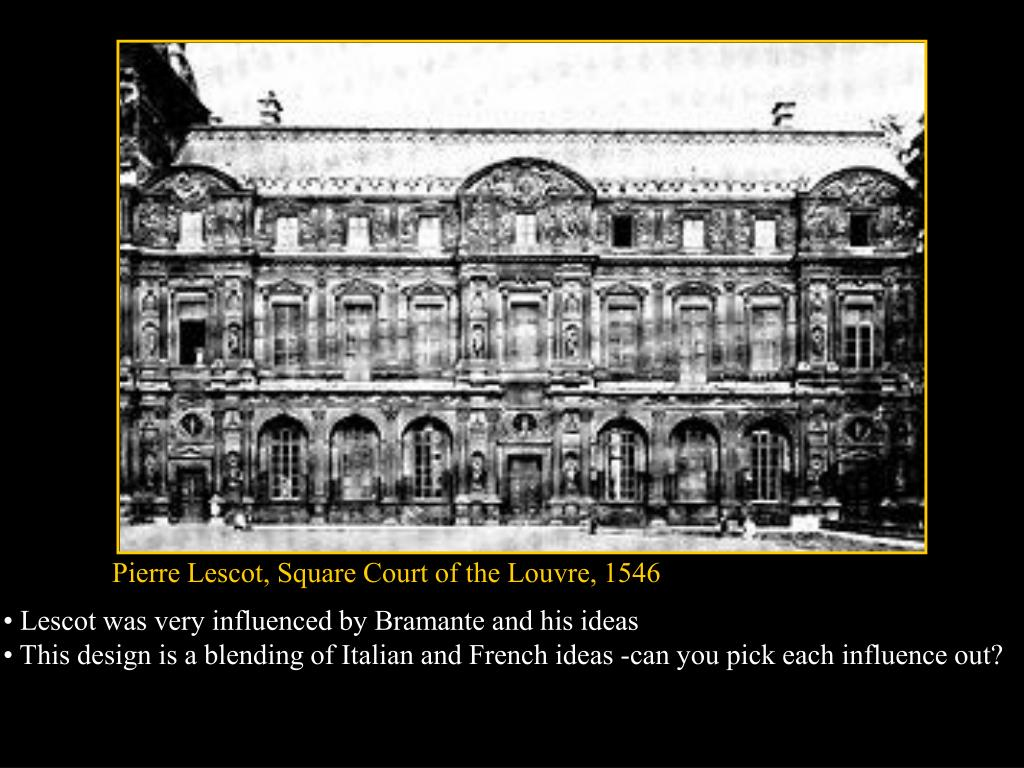 Pierre Lescot, Square Court of the Louvre, 1546