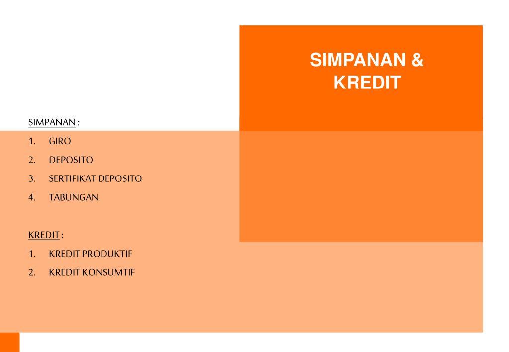 SIMPANAN & KREDIT