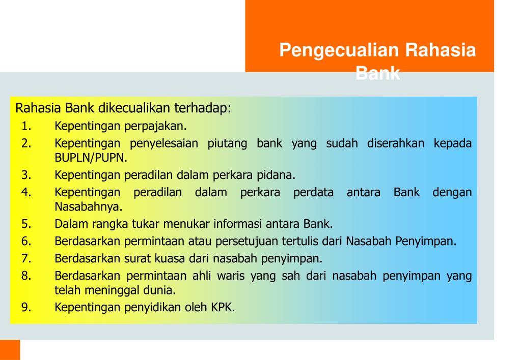 Pengecualian Rahasia Bank