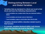 distinguishing between local and global variables7