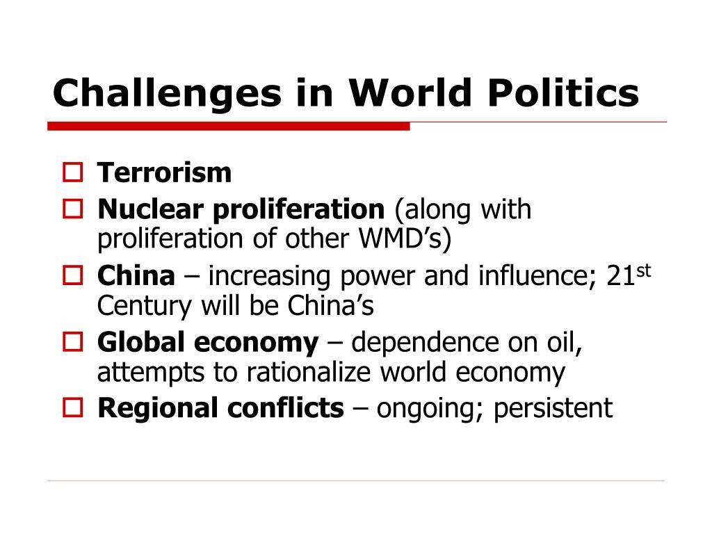 Challenges in World Politics