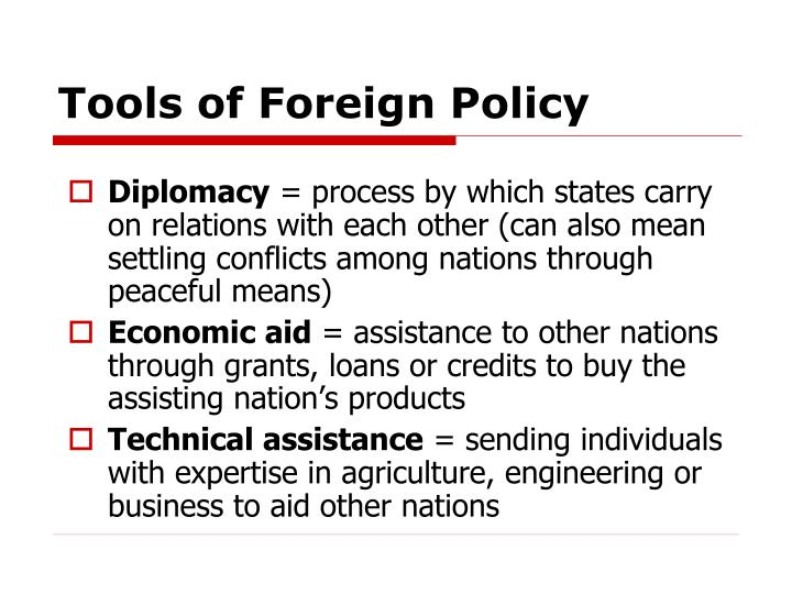 Tools of foreign policy