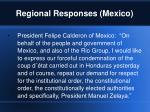 regional responses mexico