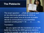 the plebiscite