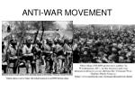 anti war movement