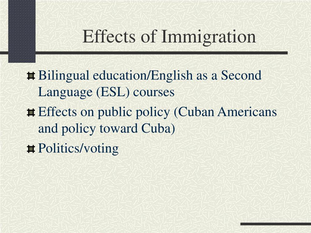 immigration and the effect on the How can the answer be improved.