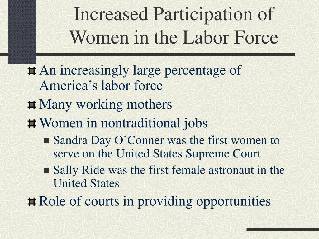 Increased Participation of Women in the Labor Force