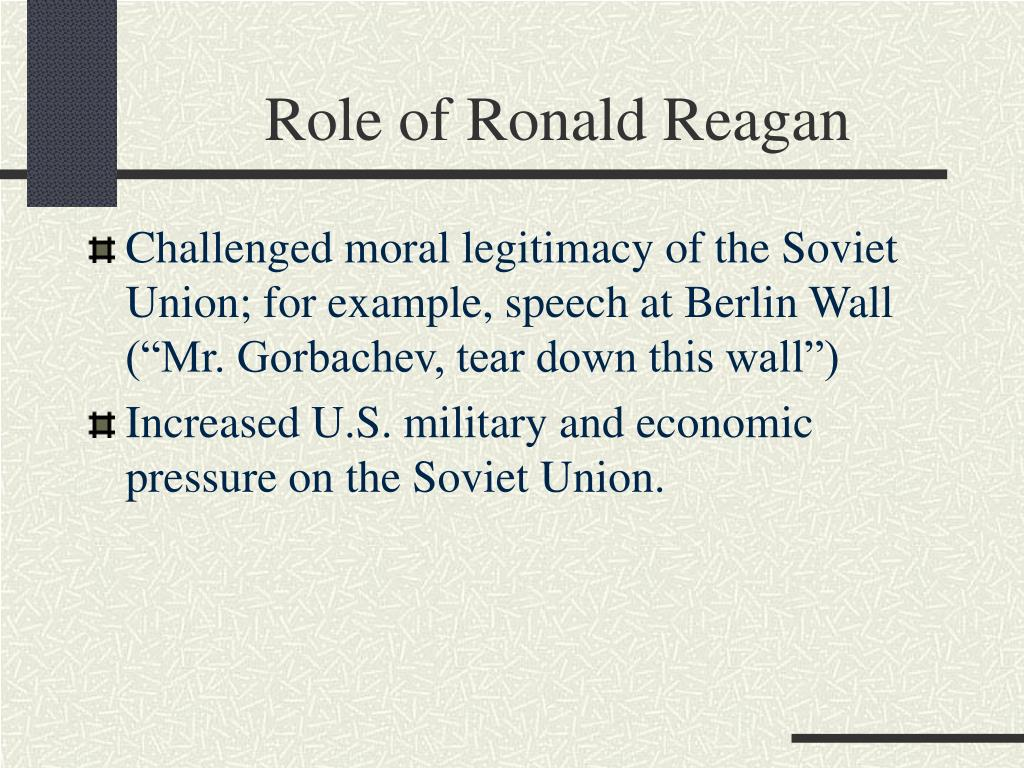 Role of Ronald Reagan