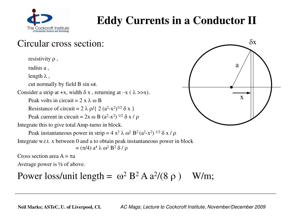 Eddy Currents in a Conductor II