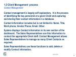 1 2 client management process contact management