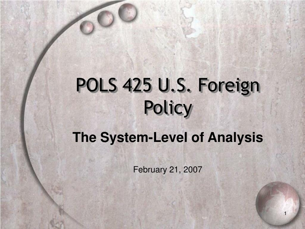 pols 425 u s foreign policy l.