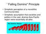 falling domino principle15