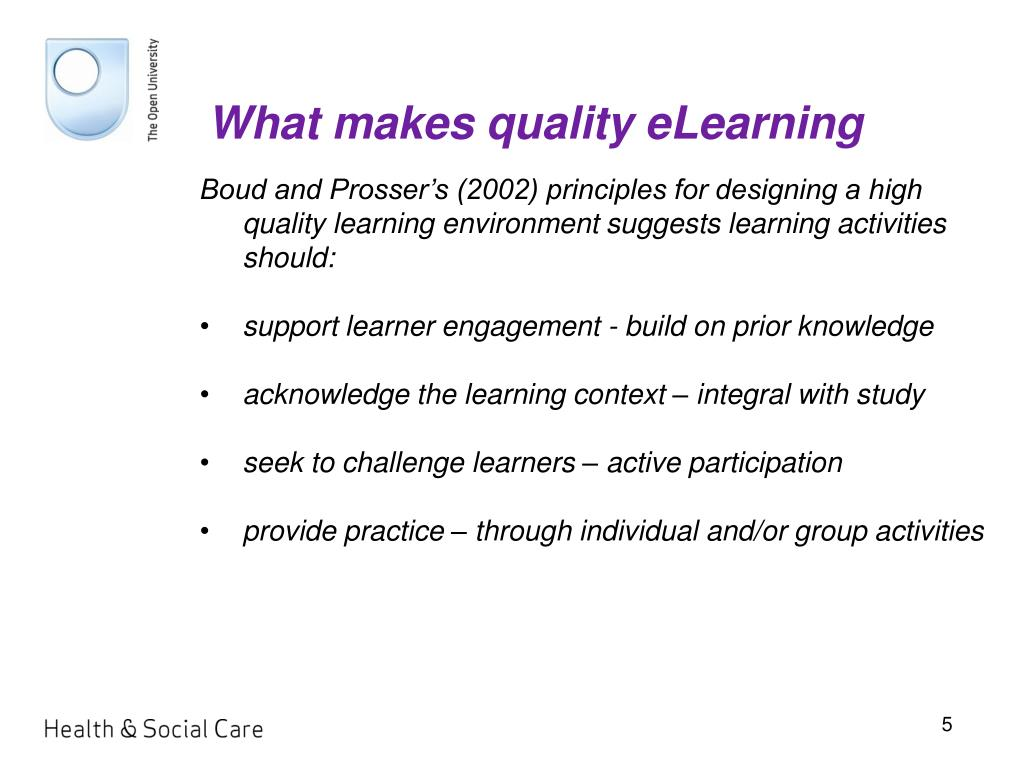 What makes quality eLearning