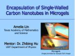 encapsulation of single walled carbon nanotubes in microgels