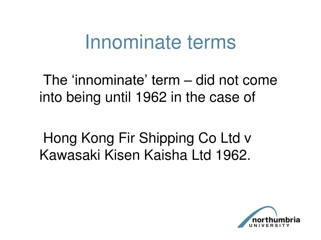 Innominate terms