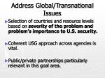 address global transnational issues