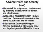 advance peace and security cont12