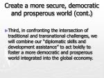 create a more secure democratic and prosperous world cont