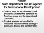mission state department and us agency for international development