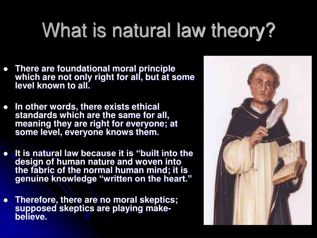What is natural law theory?
