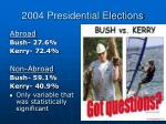 2004 presidential elections