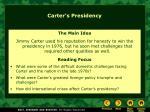 carter s presidency