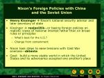 nixon s foreign policies with china and the soviet union