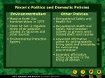 nixon s politics and domestic policies5