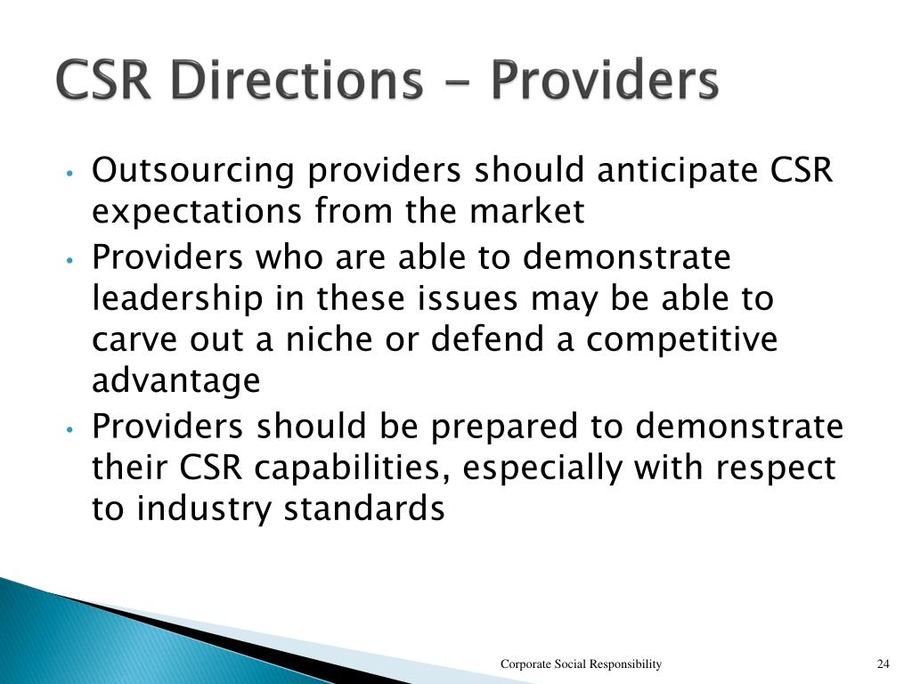 CSR Directions - Providers