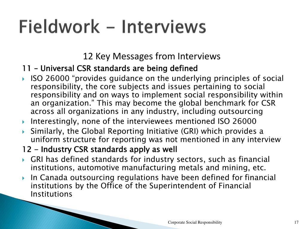 Fieldwork - Interviews