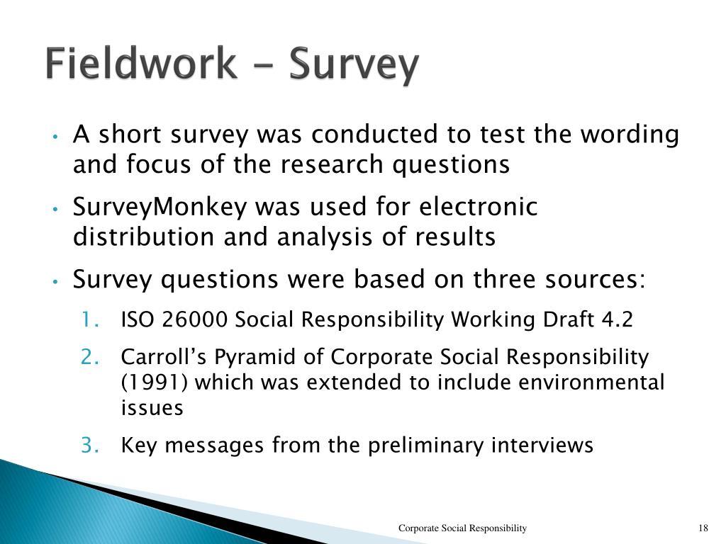 Fieldwork - Survey