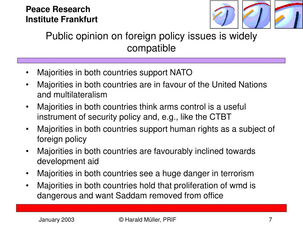 Public opinion on foreign policy issues is widely compatible
