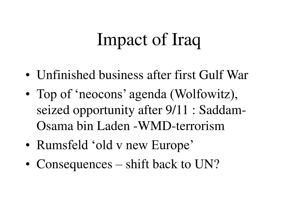 Impact of Iraq