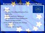 european security and defense policy