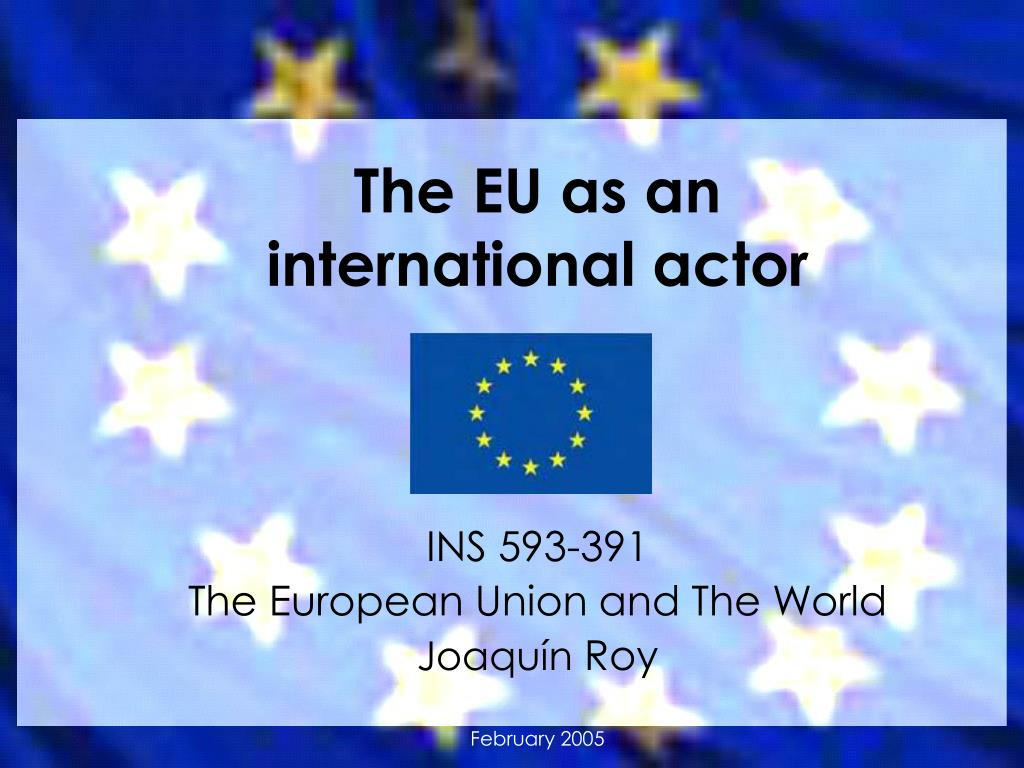 the eu as an international actor l.
