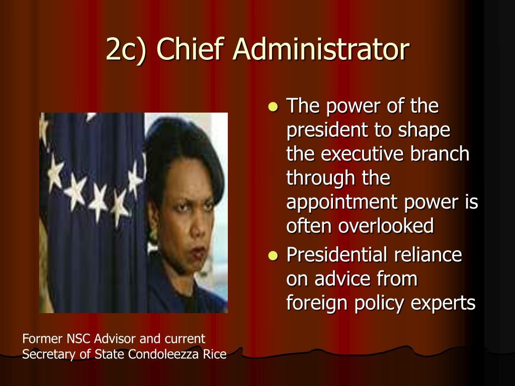 2c) Chief Administrator
