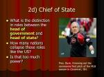 2d chief of state