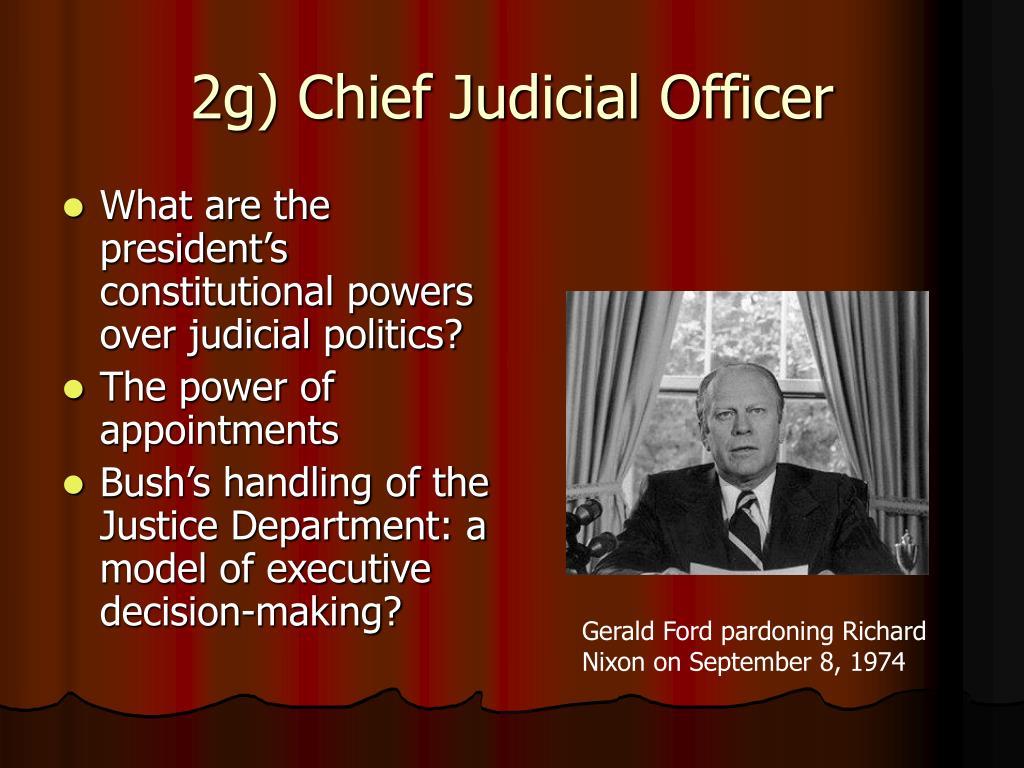 2g) Chief Judicial Officer