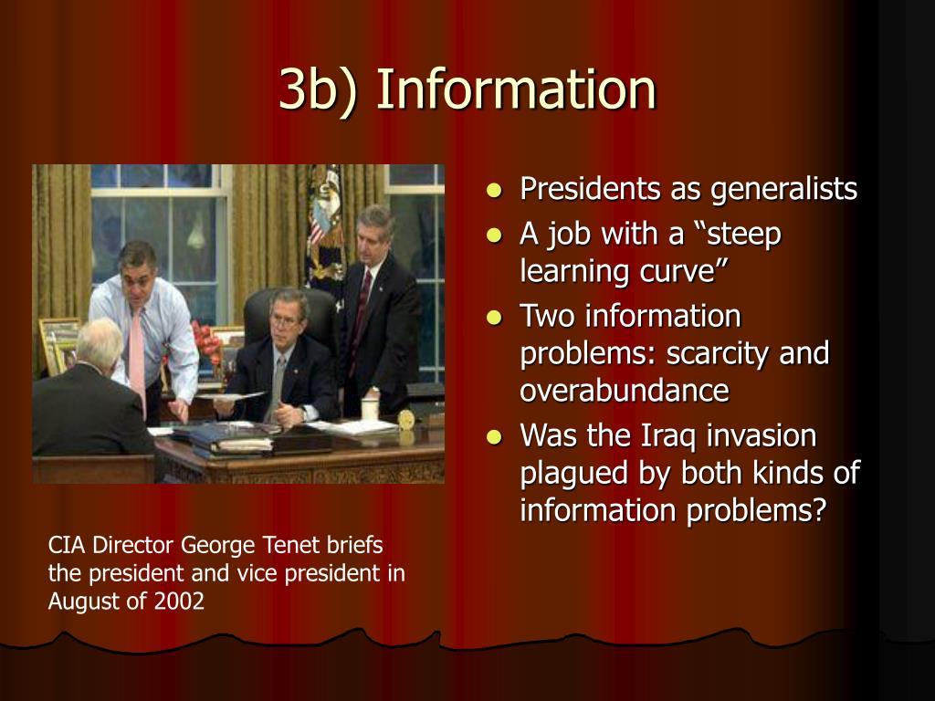 3b) Information