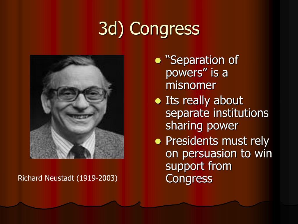 3d) Congress