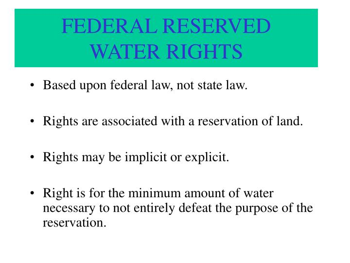 FEDERAL RESERVED