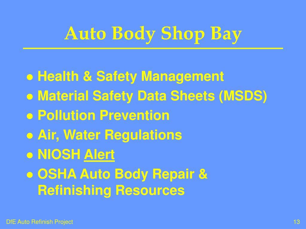 Auto Body Shop Bay