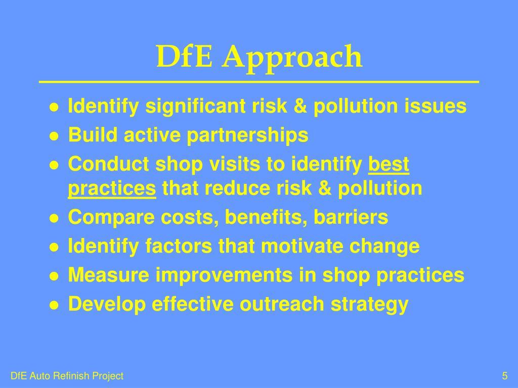 DfE Approach