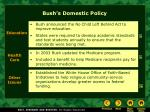 bush s domestic policy